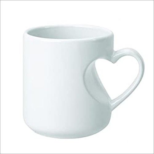 Heart Handle Cut White Mug Printing Services