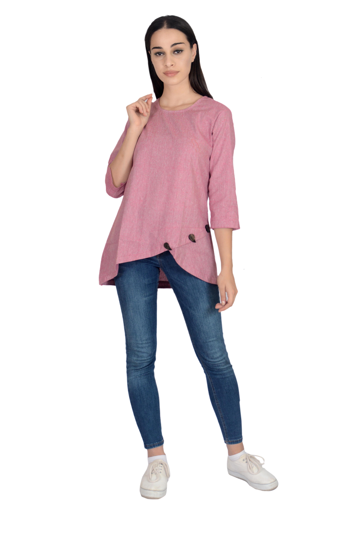 Remtex Women Cotton Top Pink
