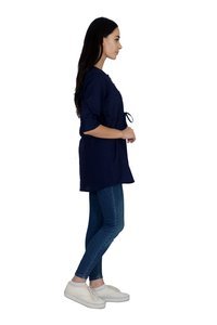 Remtex Women Cotton Blue Casual Top