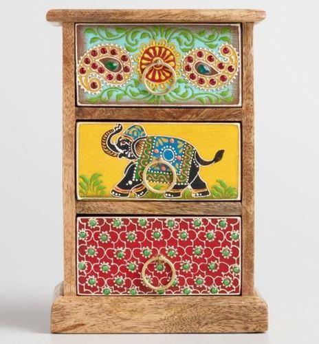 Wooden Handicraft Storage Unit Small Handmade