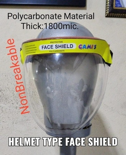 Helmet Type Face Shield