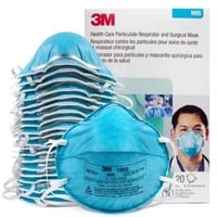 3Ma c Health Care Particulate Respirator and Surgical Mask 1860, N95 120 EA/Case