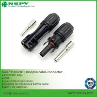 Solar Cable Connector IP68 suitable for 10sqmm Solar Cable Connector TUV approved matching MC4 or EVO connector