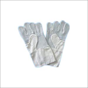 Chrome Canvas White Leather Gloves