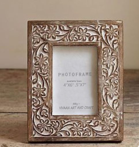 wooden photo frame carving
