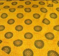 Rayon Golden Ptinted Fabrics