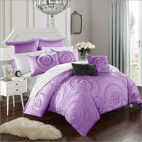Spiral Frilled Pattern Duvet Set