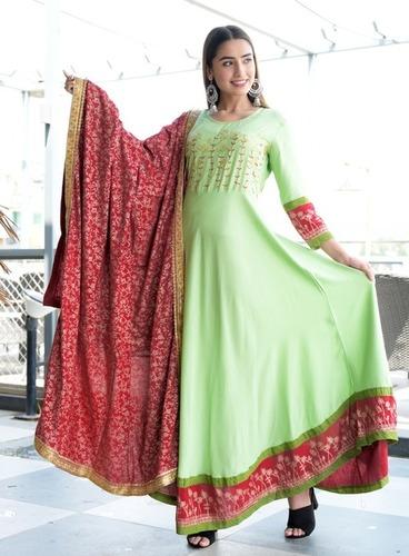 Green Dress with dupatta