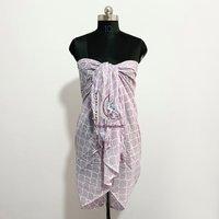 Cotton Sarong Wrap For Women  Summer Light Weight Pareo