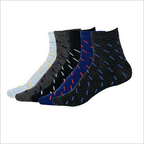 Mens Printed Ankle Socks