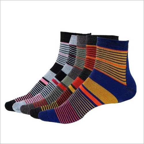 Mens Multi Color Toe Socks