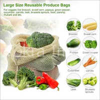 Cotton Mesh Drawstring Bags