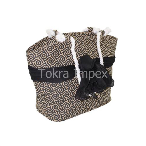 Jute Beach Bag With Twisted Rope Handle