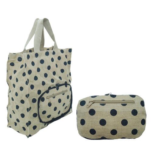 Jute Folding Bags Cum Purse