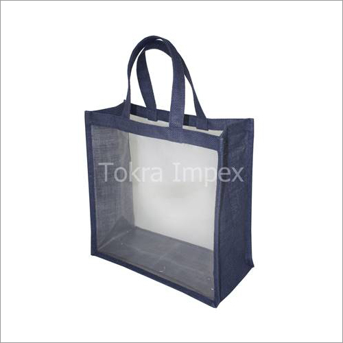 Jute Window Tote Bags