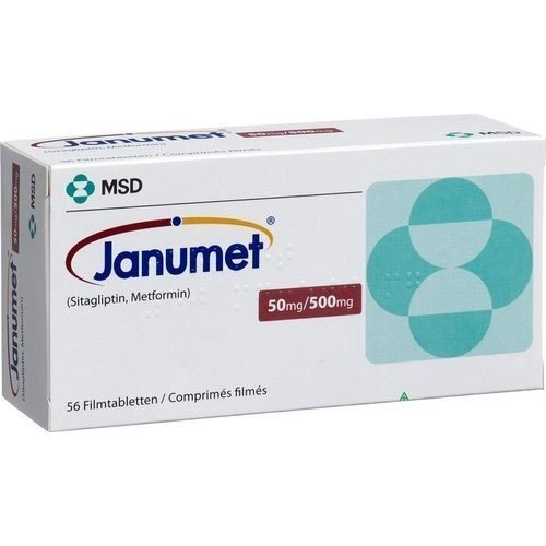 Janumet 50 mg/500 mg Tablet