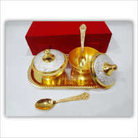 Brass Lid Bowl 5 Pcs Set