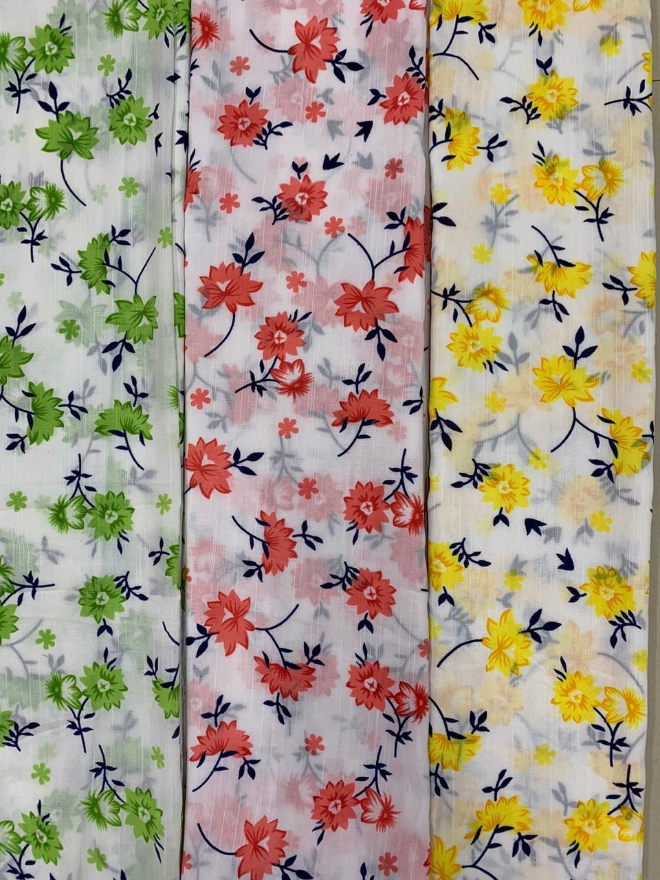 BSY Slub Print Fabrics