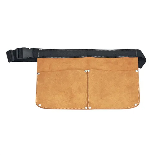 Two Pocket Leather Nail Pouch