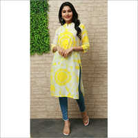 Ladies Cotton Tye Dye Kurtis