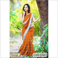 Ladies Fancy Check Print Saree