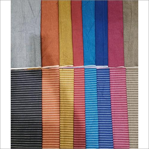 Cotton Plain And Stripes Set Fabric