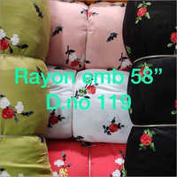 Rayon Dyed Embroidery Fabric