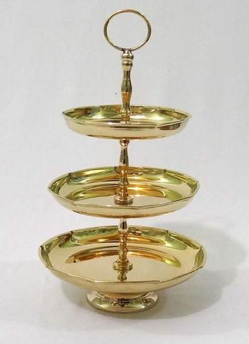Brass 3 Tier cake stand