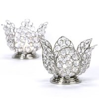 Crystal Beaded Lotus candle holder