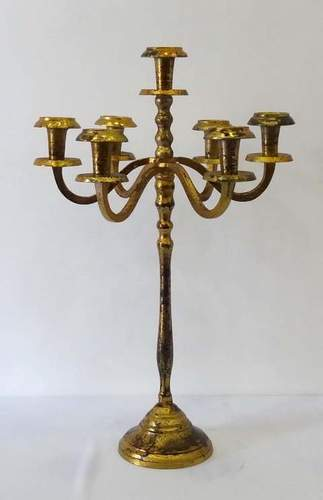 5 Arm Antique Gold Candleabra
