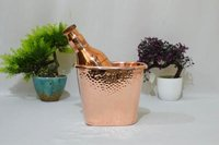 Copper Hammered Champagne Bucket