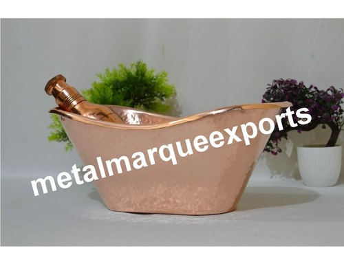 Copper Hammered Ice Bucket