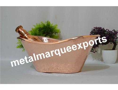 Copper Hammered Ice Bucket