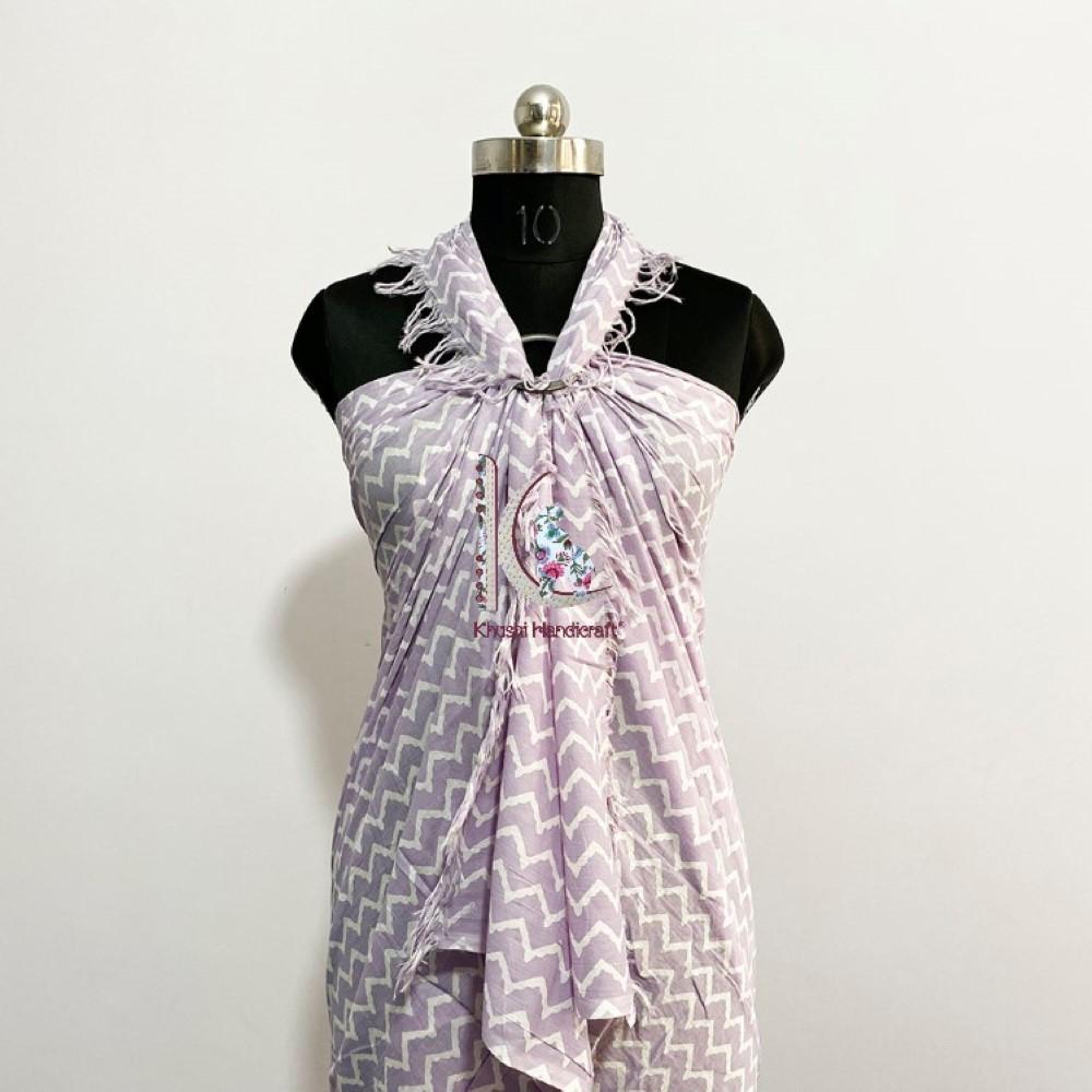 Soft Cotton Beach Wear Wrap Dress For Women
