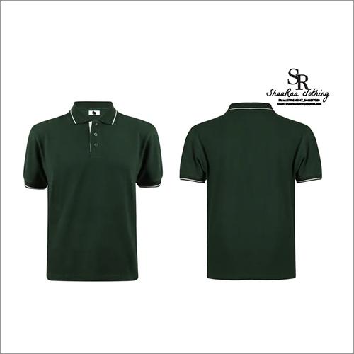 Black Mens Collar T-Shirts