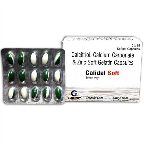 Calcitriol Calcium Carbonate And Zinc Soft Gelatine Capsules