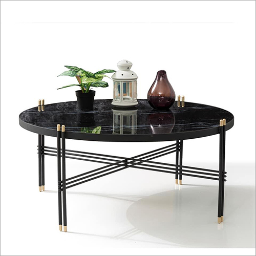 Wooden Top  Round Coffee Table