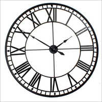 Round Skeleton Wall Clock