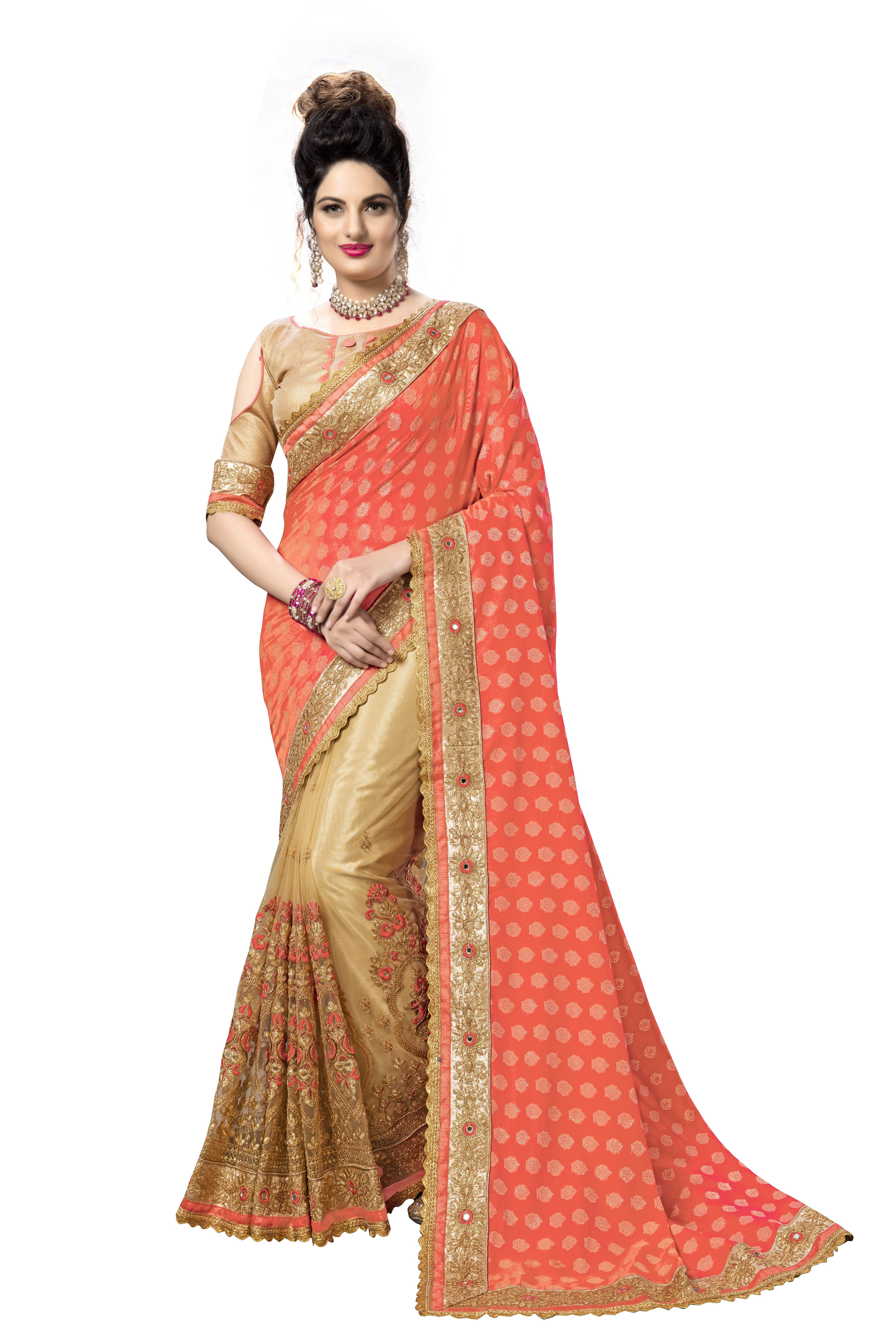 Silk Embroidered Saree