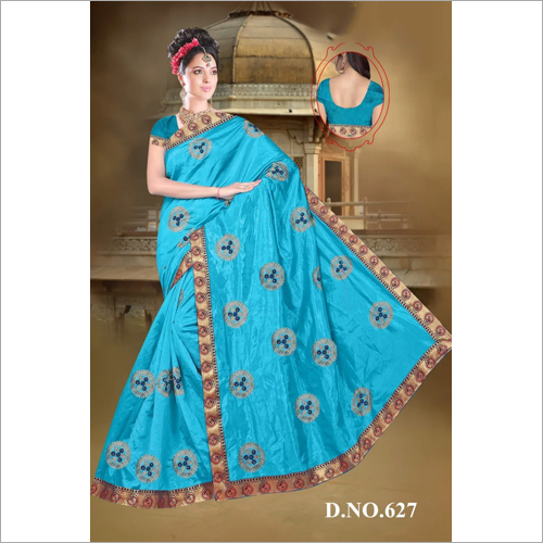 Ladies Lace Border Saree