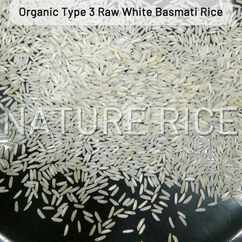 Organic Type 3 White Raw Basmati Rice