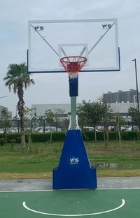 BASKETBALL POLE MOVABLE AND HEIGHT ADJUSTIBLE