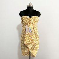 100% Cotton Beach Wear Dress Printed  Sarong