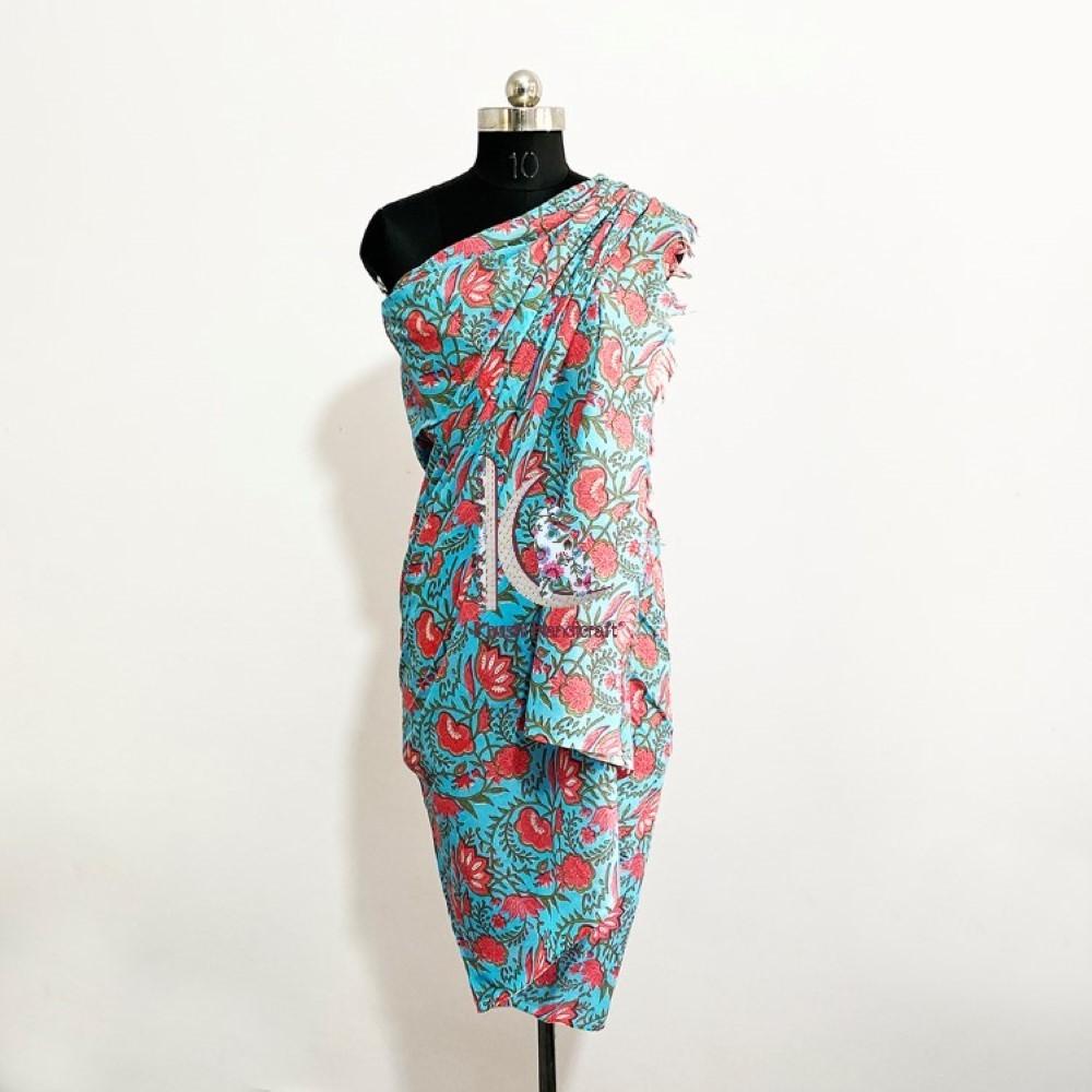 Hand Block Printed Beach Wear Sarong