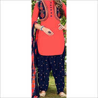 Ladies Fancy Patiala Suit With Koti Set