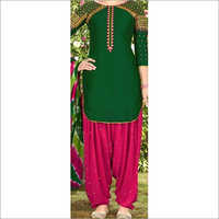 Silk Patiala Suit