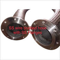 SS Wire Braided Hose With SS Flanges