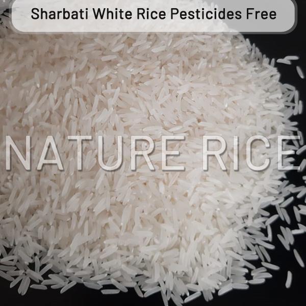 Organic Sharbati White Raw Rice