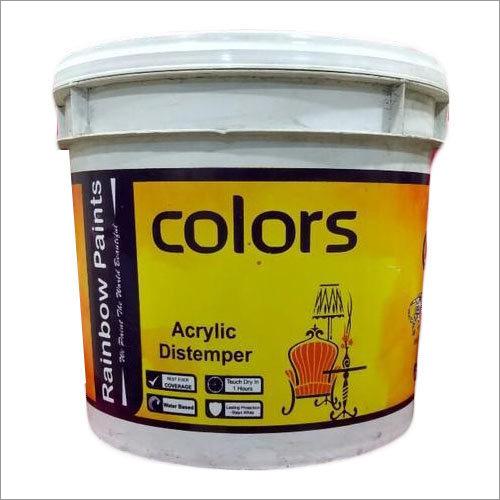 Rainbow Acrylic Distemper Application: Wall