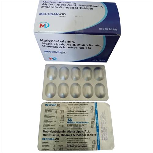 Methylcobalamin Alpha Lipoic Acid Multivitamin Minerals and Inositol Tablets